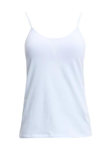 Defacto –Fit Askılı Göğüs Kuplu Pamuklu Atlet Beyaz